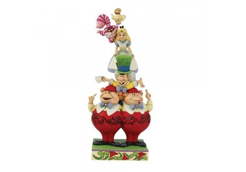 Disney Traditions We're All Mad Here (Stacked Alice in Wonderland) - Disney Traditions