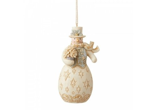 Heartwood Creek Holiday Lustre Snowman Hanging Ornament - Heartwood Creek