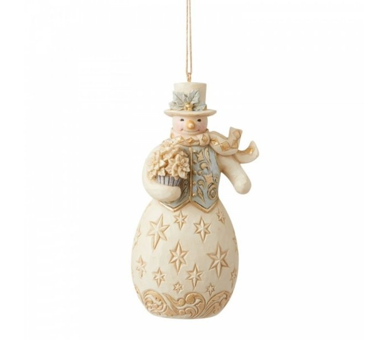 Heartwood Creek - Holiday Lustre Snowman Hanging Ornament
