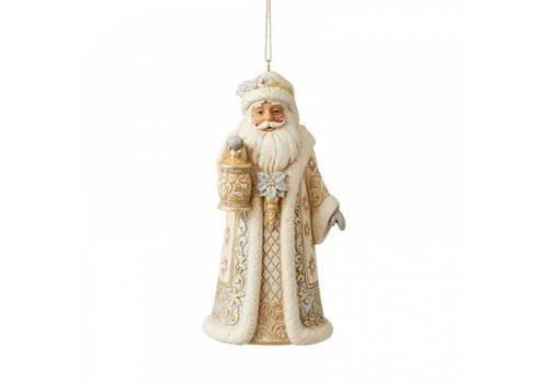 Heartwood Creek Holiday Lustre Santa Hanging Ornament - Heartwood Creek
