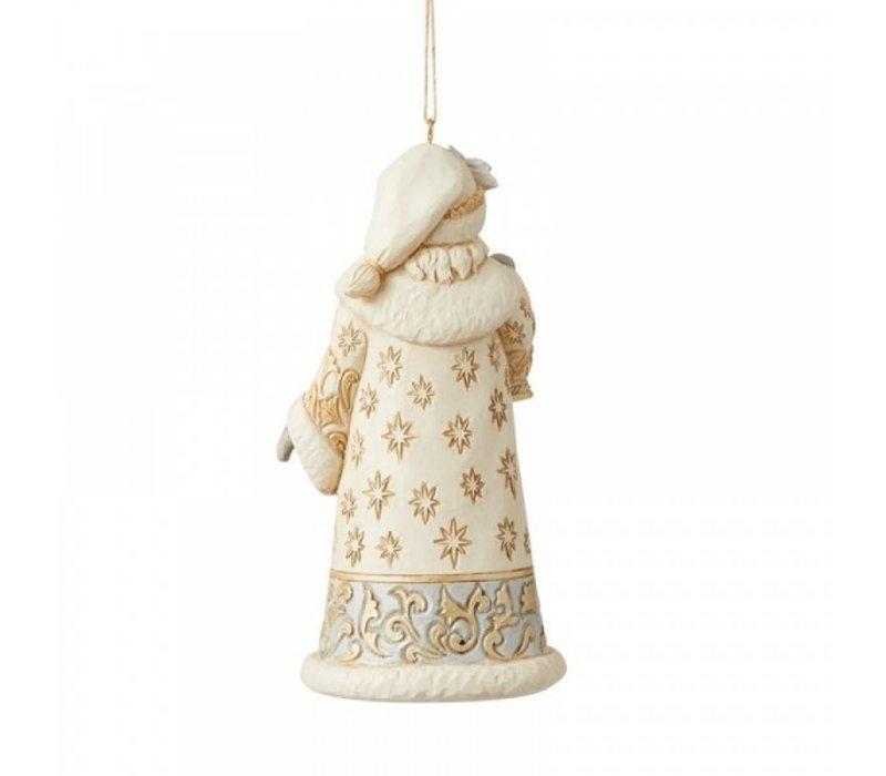 Heartwood Creek - Holiday Lustre Santa Hanging Ornament