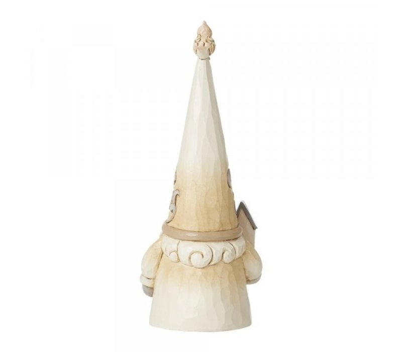 Heartwood Creek - Gnome with Bird (White Woodland Gnome)