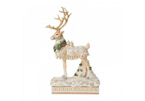 Heartwood Creek Large Reindeer Centrepiece (White Woodland) - Heartwood Creek