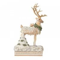 Heartwood Creek - Large Reindeer Centrepiece (White Woodland)