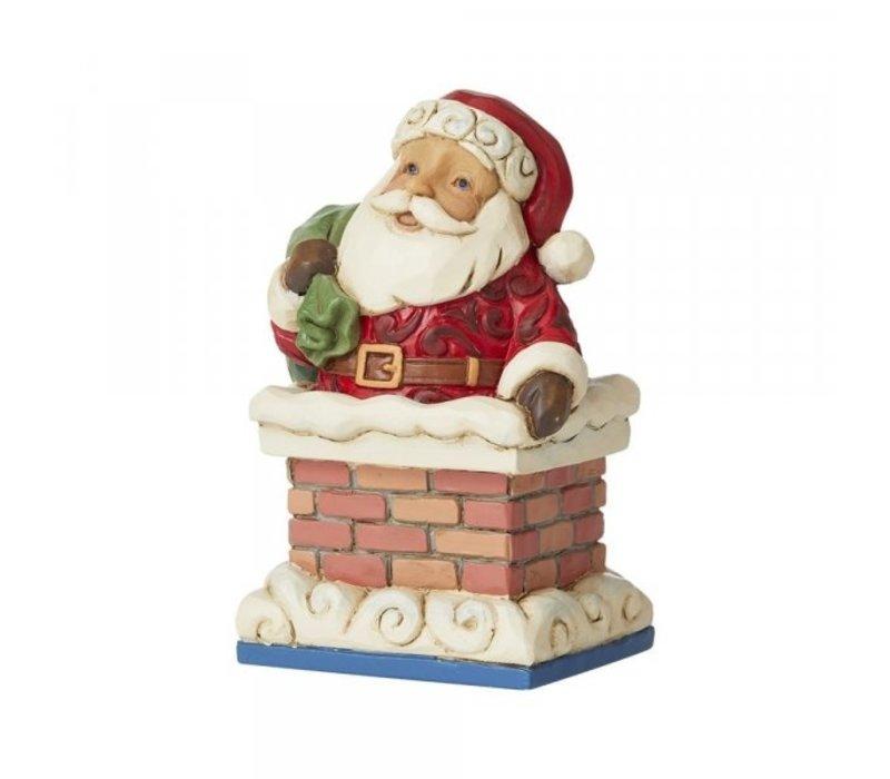 Heartwood Creek - Mini Santa in Chimney