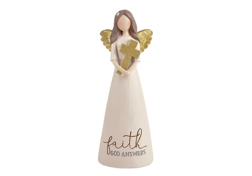 UniekCadeau Faith - God Answers (Angel with cross) - UniekCadeau