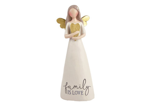 UniekCadeau Family is Love (Angel with heart) - UniekCadeau
