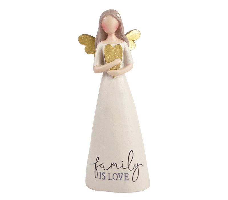UniekCadeau - Family is Love (Angel with heart)