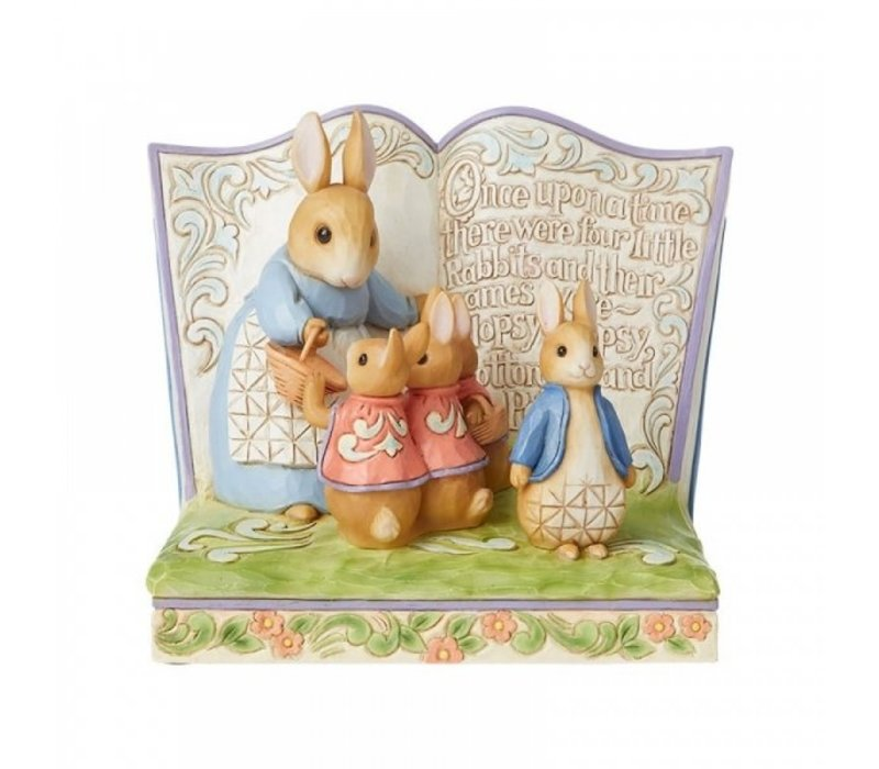 """Beatrix Potter by Jim Shore - """"Once Upon a Time There Were Four Little Rabbits"""" Storybook"""