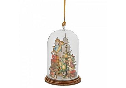 Beatrix Potter Peter and Benjamin Bunny Christmas Wooden Hanging Ornament - Beatrix Potter