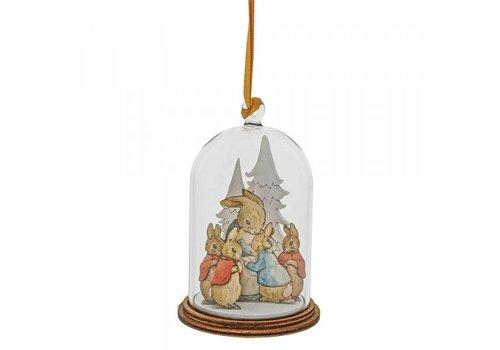 Beatrix Potter Peter Rabbit and Family at Christmas Wooden Hanging Ornament - Beatrix Potter