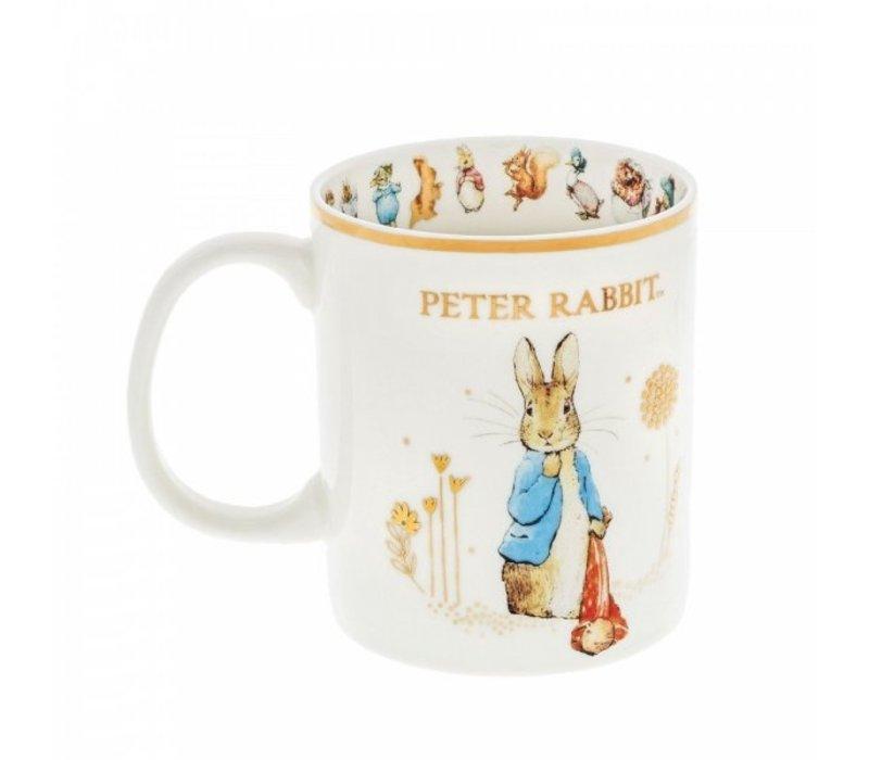 Beatrix Potter - Peter Rabbit with Pocket Handkerchief Special Edition Mug