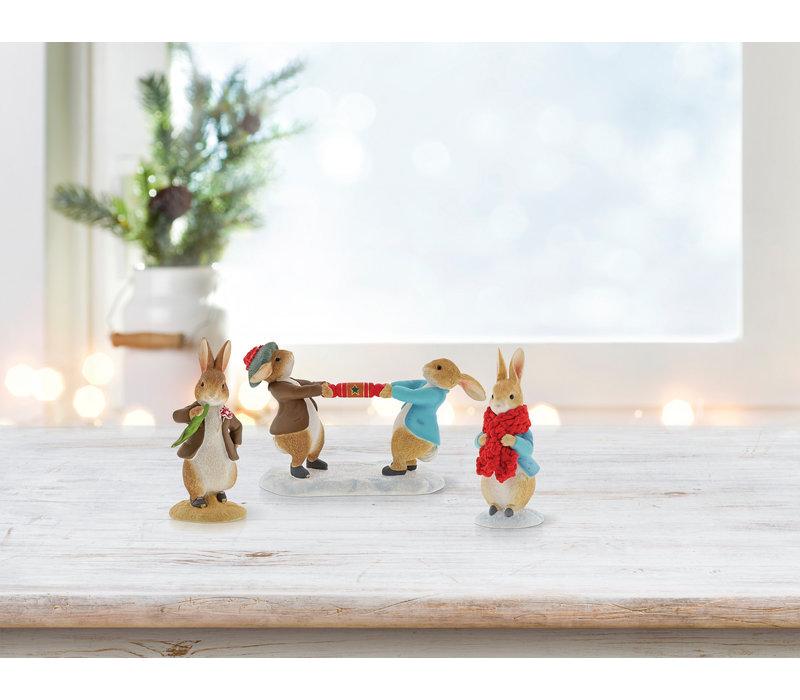 Beatrix Potter - Peter Rabbit and Benjamin Pulling a Cracker