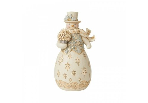 Heartwood Creek Blessings Bloom This Season (Holiday Lustre Snowman) - Heartwood Creek