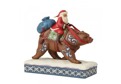 Heartwood Creek Annual Santa Riding a Brown Bear - Heartwood Creek