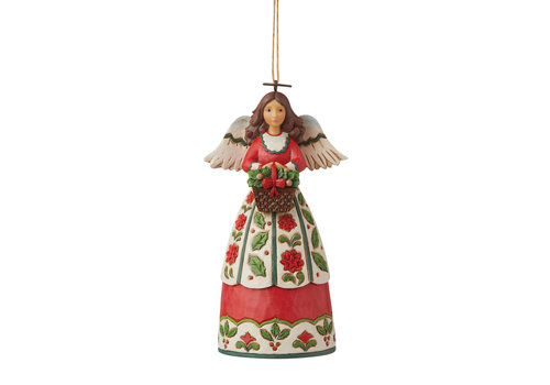 Heartwood Creek Christmas Floral Angel (Hanging Ornament) - Heartwood Creek