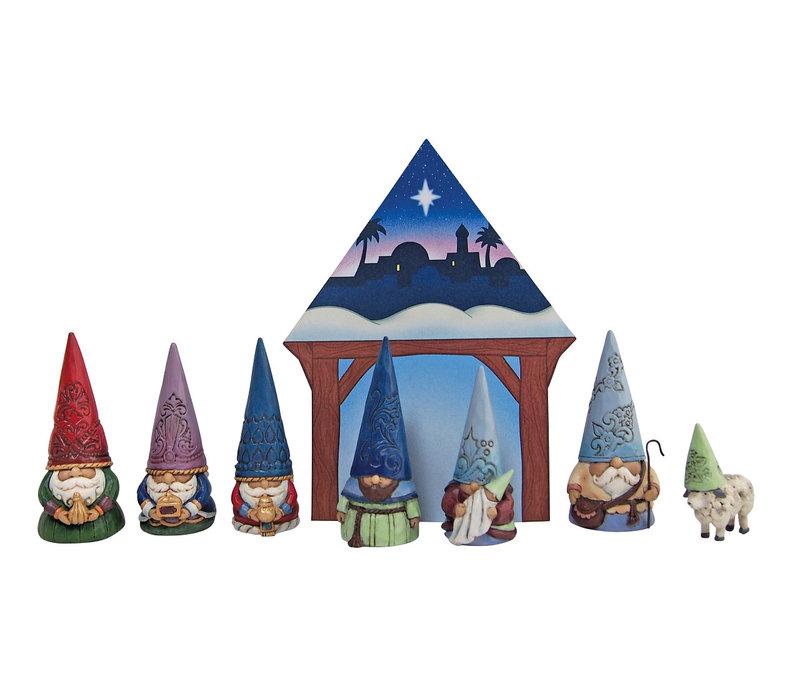 Heartwood Creek - Christmas Gnome Nativity Set