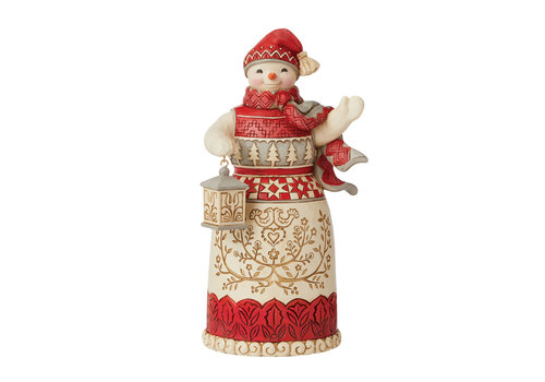 Heartwood Creek Nordic Noel Snowman with Lantern - Heartwood Creek