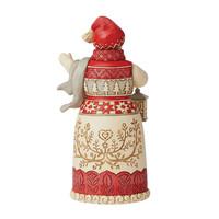 Heartwood Creek - Nordic Noel Snowman with Lantern
