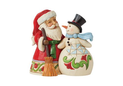 Heartwood Creek Pint Sized Santa with Snowman - Heartwood Creek