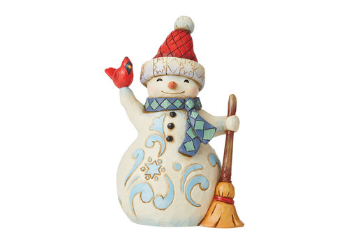 Heartwood Creek Lift Your Spirits (Pint Sized Snowman with Cardinal) - Heartwood Creek