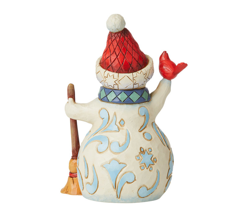 Heartwood Creek - Lift Your Spirits (Pint Sized Snowman with Cardinal)