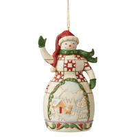 Heartwood Creek - Red and Green Snowman (Hanging Ornament)