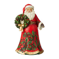Heartwood Creek - Santa Holding Wreath