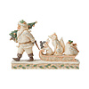 Heartwood Creek Heartwood Creek - Santa pulling sled with Animals (White Woodland)