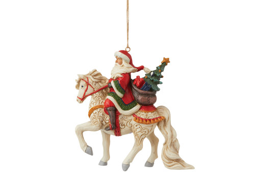 Heartwood Creek Santa Riding Horse (Hanging Ornament) - Heartwood Creek