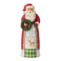 Heartwood Creek - Santa Statue Holding Wreath