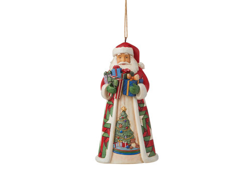 Heartwood Creek Santa with Arms full of Gifts (Hanging Ornament) - Heartwood Creek