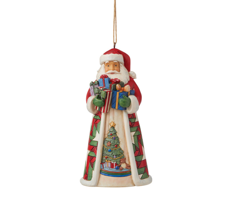 Heartwood Creek - Santa with Arms full of Gifts (Hanging Ornament)