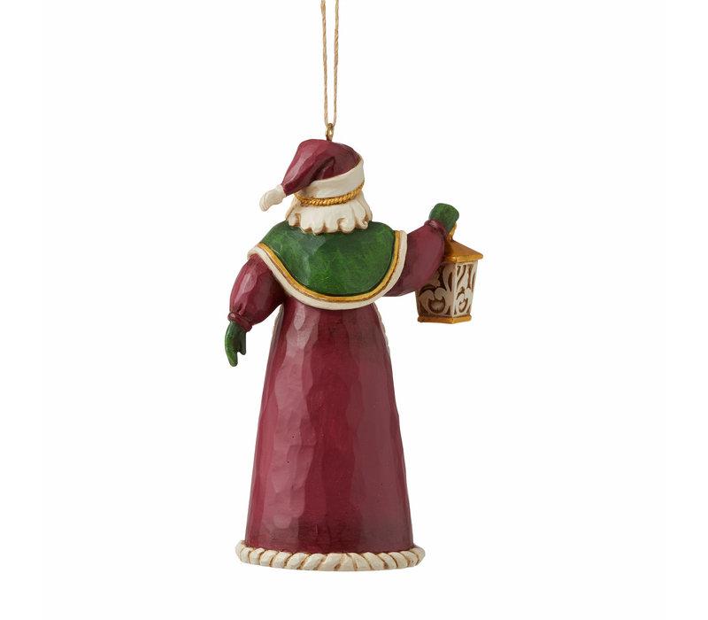 Heartwood Creek - Santa with Lantern (Hanging Ornament)