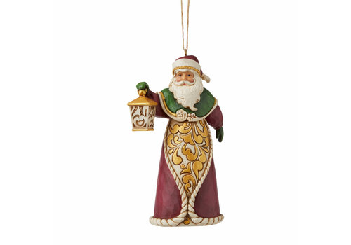 Heartwood Creek Santa with Lantern (Hanging Ornament) - Heartwood Creek