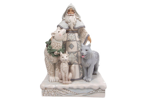 Heartwood Creek Santa with Wreath and Animals - Heartwood Creek