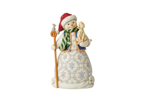 Heartwood Creek Chase A Happy Holiday (Snowman holding Cat) - Heartwood Creek