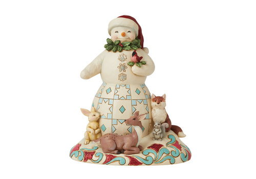 Heartwood Creek Joy For All, Great and Small (Snowman with animals) - Heartwood Creek