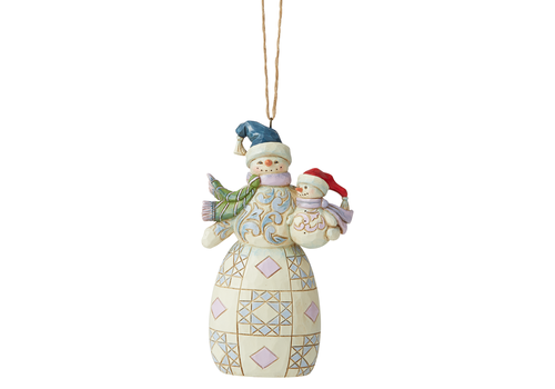 Heartwood Creek Snowman with Baby Hanging Ornament - Heartwood Creek