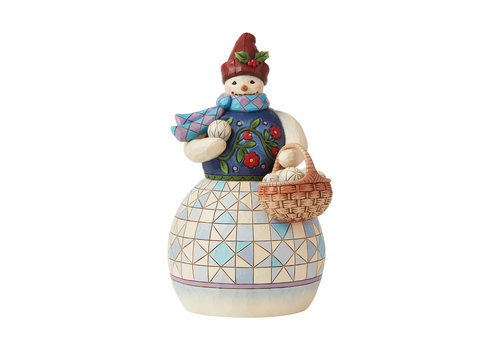 Heartwood Creek Snowman with Basket of Snowballs - Heartwood Creek