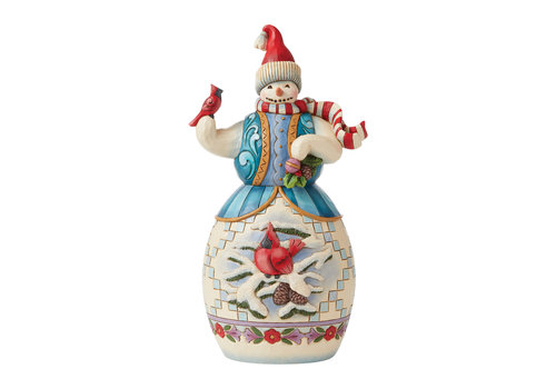 Heartwood Creek Snowman with Cardinal - Heartwood Creek