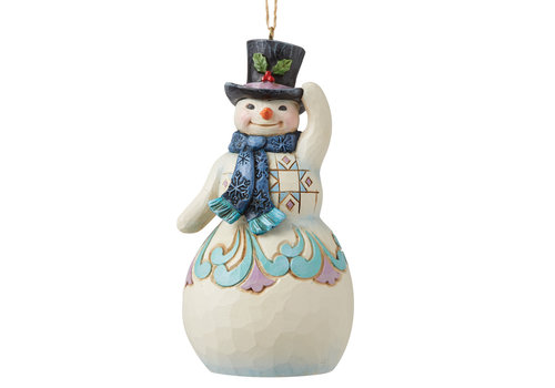 Heartwood Creek Snowman with Top Hat and Scarf Hanging Ornament - Heartwood Creek