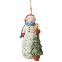 Heartwood Creek - Snowman with Tree (Hanging Ornament)