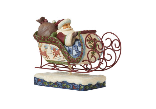 Heartwood Creek Flight of Festive Fancy (Victorian Christmas Santa in Sleigh) - Heartwood Creek