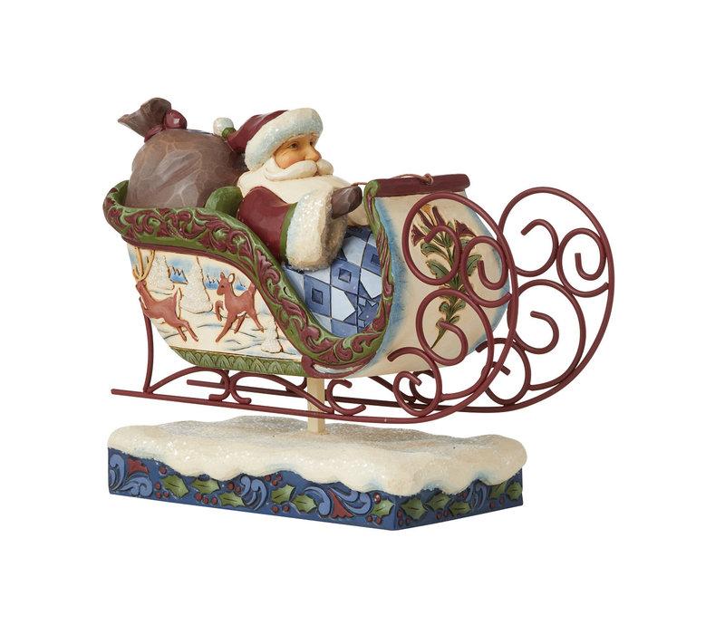 Heartwood Creek - Flight of Festive Fancy (Victorian Christmas Santa in Sleigh)