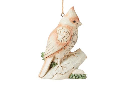 Heartwood Creek White Woodland Cardinal Hanging Ornament - Heartwood Creek