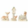 Heartwood Creek Heartwood Creek - White Woodland Mini Accessory Set of 3 (Birdhouse, Deer, Squirrel)
