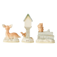 Heartwood Creek - White Woodland Mini Accessory Set of 3 (Birdhouse, Deer, Squirrel)