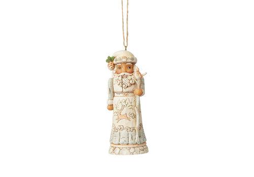 Heartwood Creek White Woodland Nutcracker (Hanging Ornament) - Heartwood Creek
