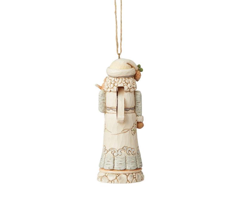 Heartwood Creek - White Woodland Nutcracker (Hanging Ornament)